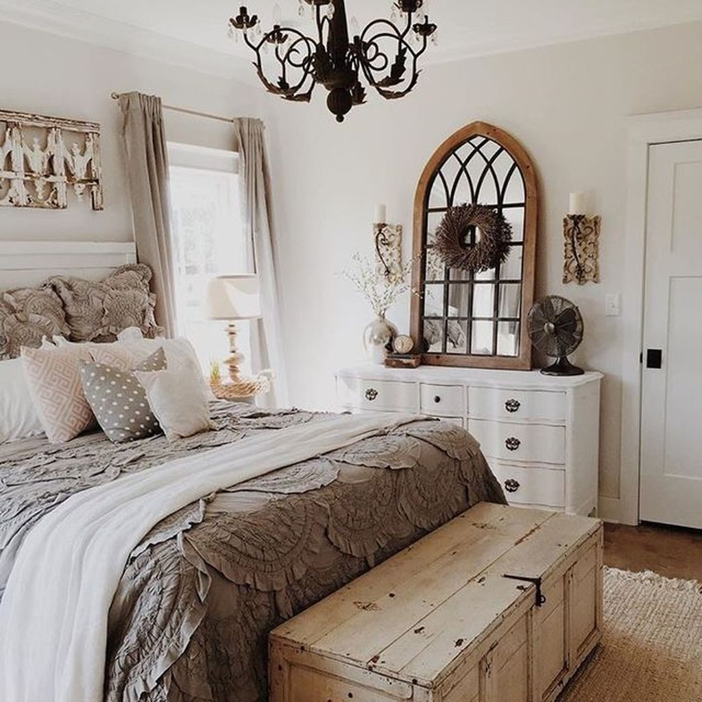 50 Classic And Vintage Farmhouse Bedroom Ideas Home Pinterest