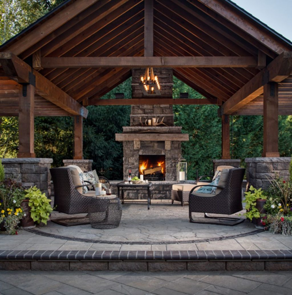 50 Marvelous Rustic Outdoor Fireplace Designs For Your Barbecue