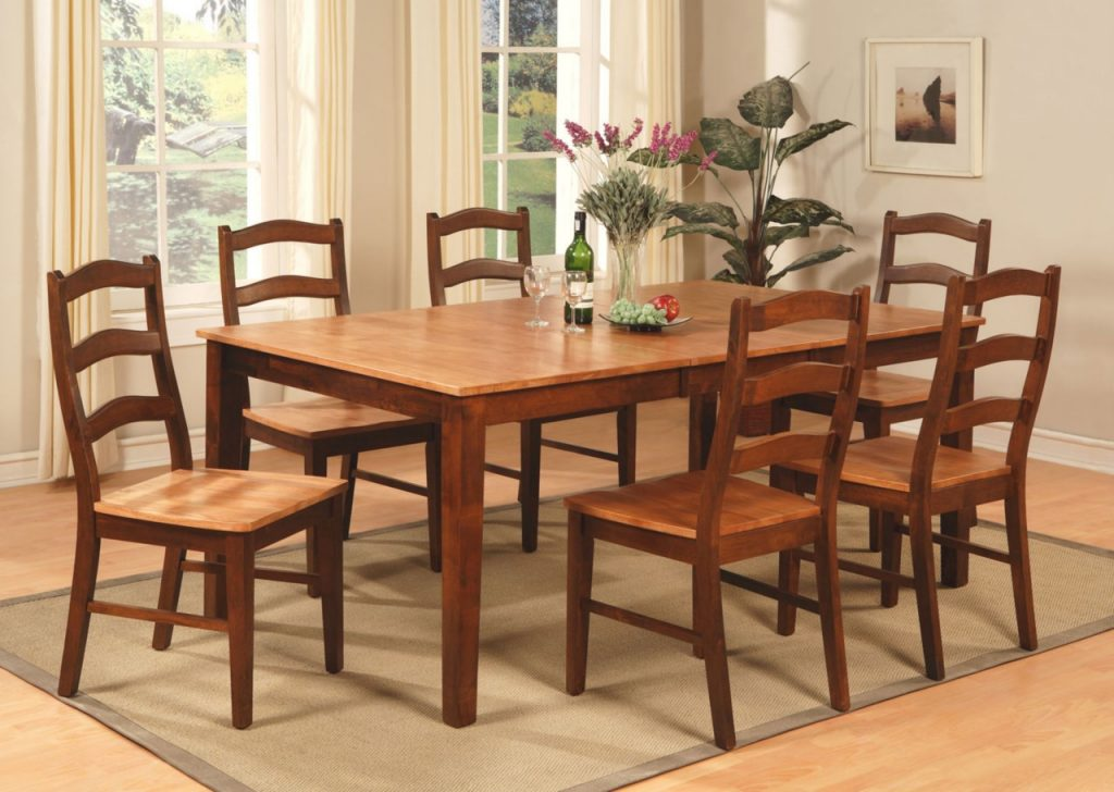 64quot Square Dining Table 8 Chairs Set Rustic Wood Furniture