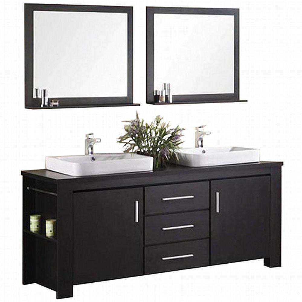71 73 In Bathroom Vanities Bath The Home Depot