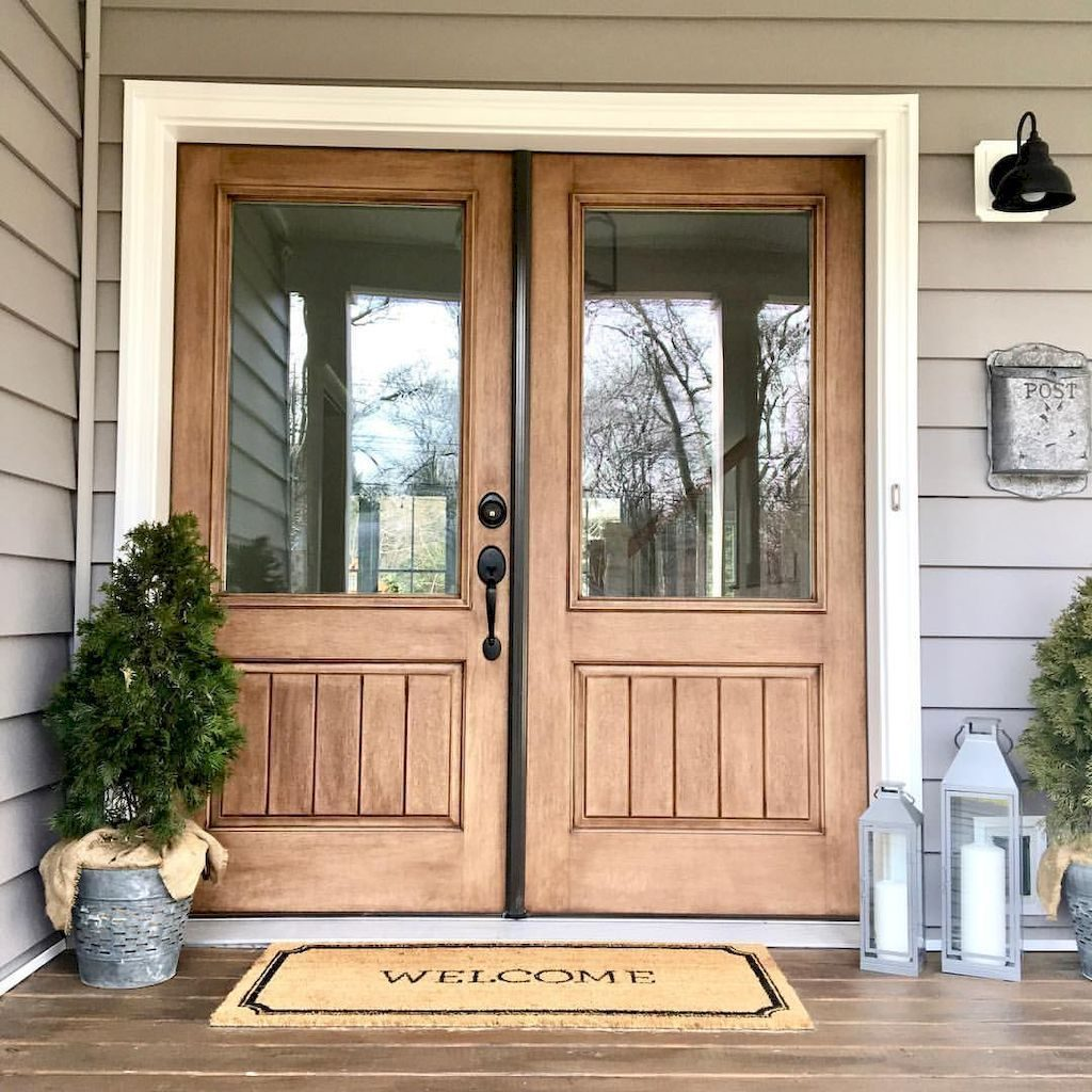 90 Awesome Front Door Farmhouse Entrance Decor Ideas Decorating