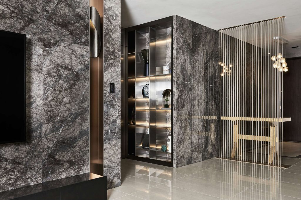 A Luxury Apartment In Taiwan Makes A Statement In Marble Lookboxliving