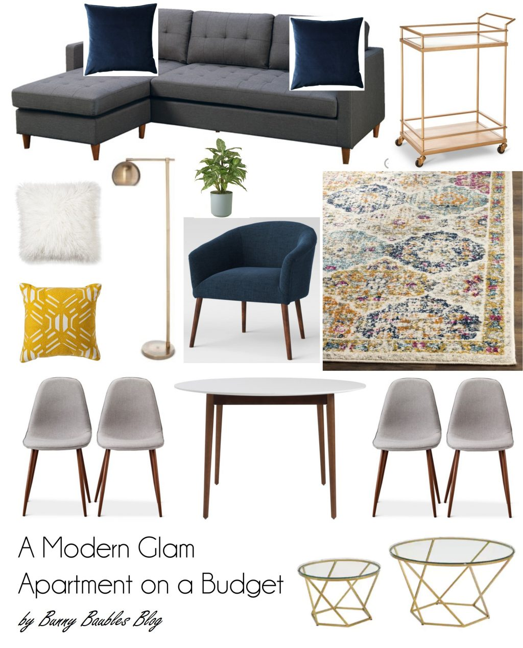 A Modern Glam Apartment On A Budget Bunny Baubles