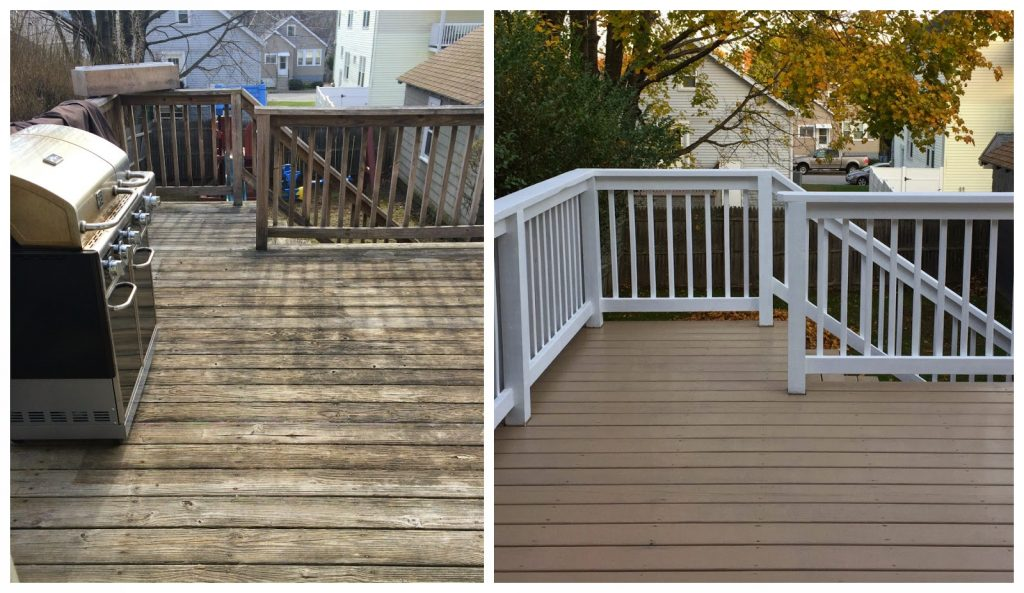 A New Nill Before And After Back Deck