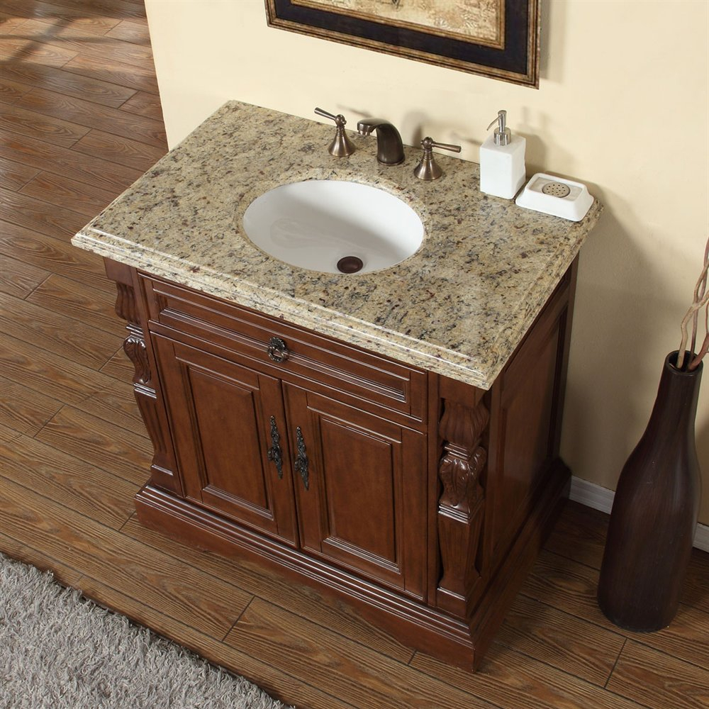 Accord 36 Inch Single Sink Bathroom Vanity Venetian Granite Top
