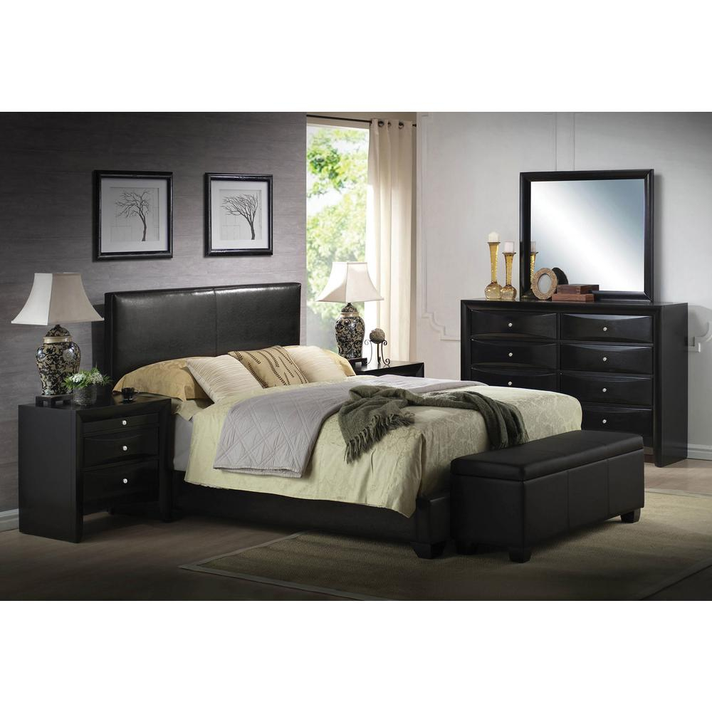 Acme Furniture Ireland Black Full Upholstered Bed 14440f The Home