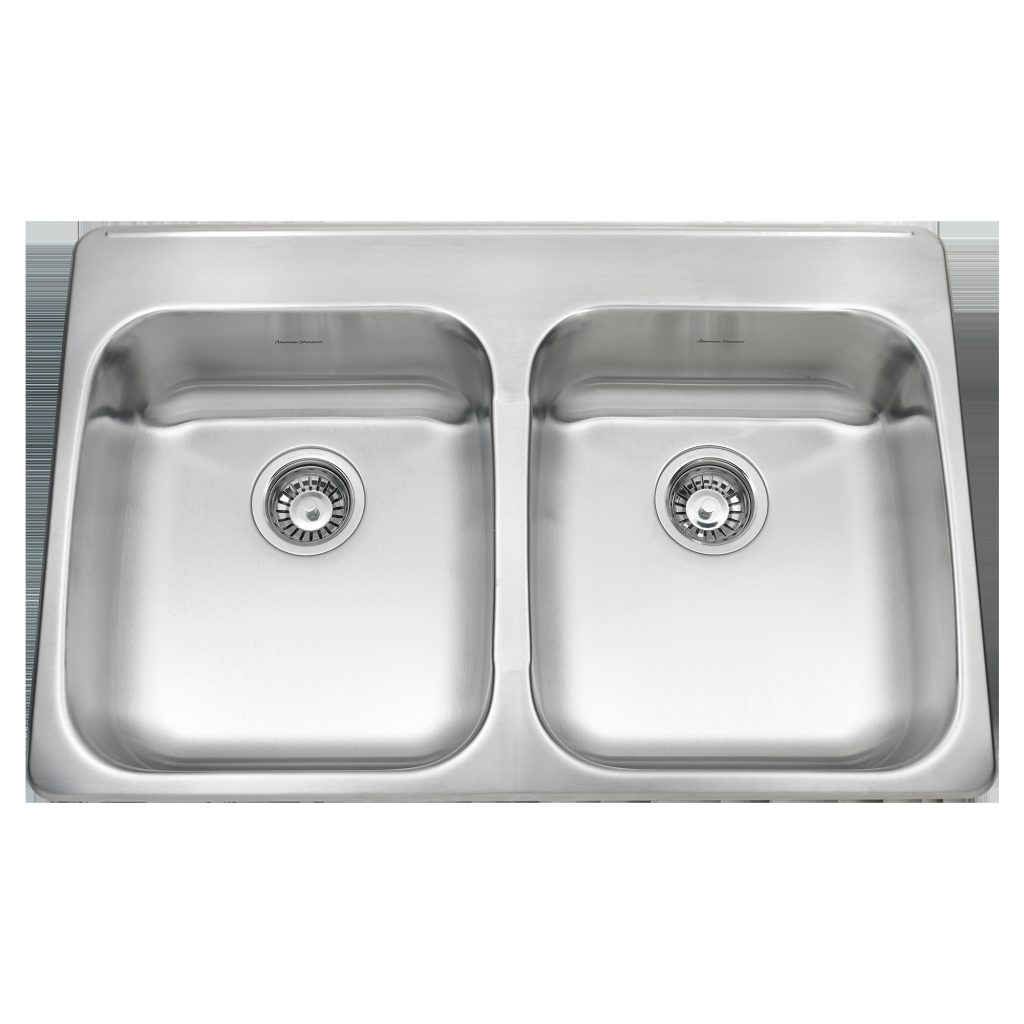 Ada Double Bowl 33 Inch 18 Gauge Kitchen Sink American Standard