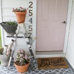 Adding Color To The Farmhouse Front Porch With Plants