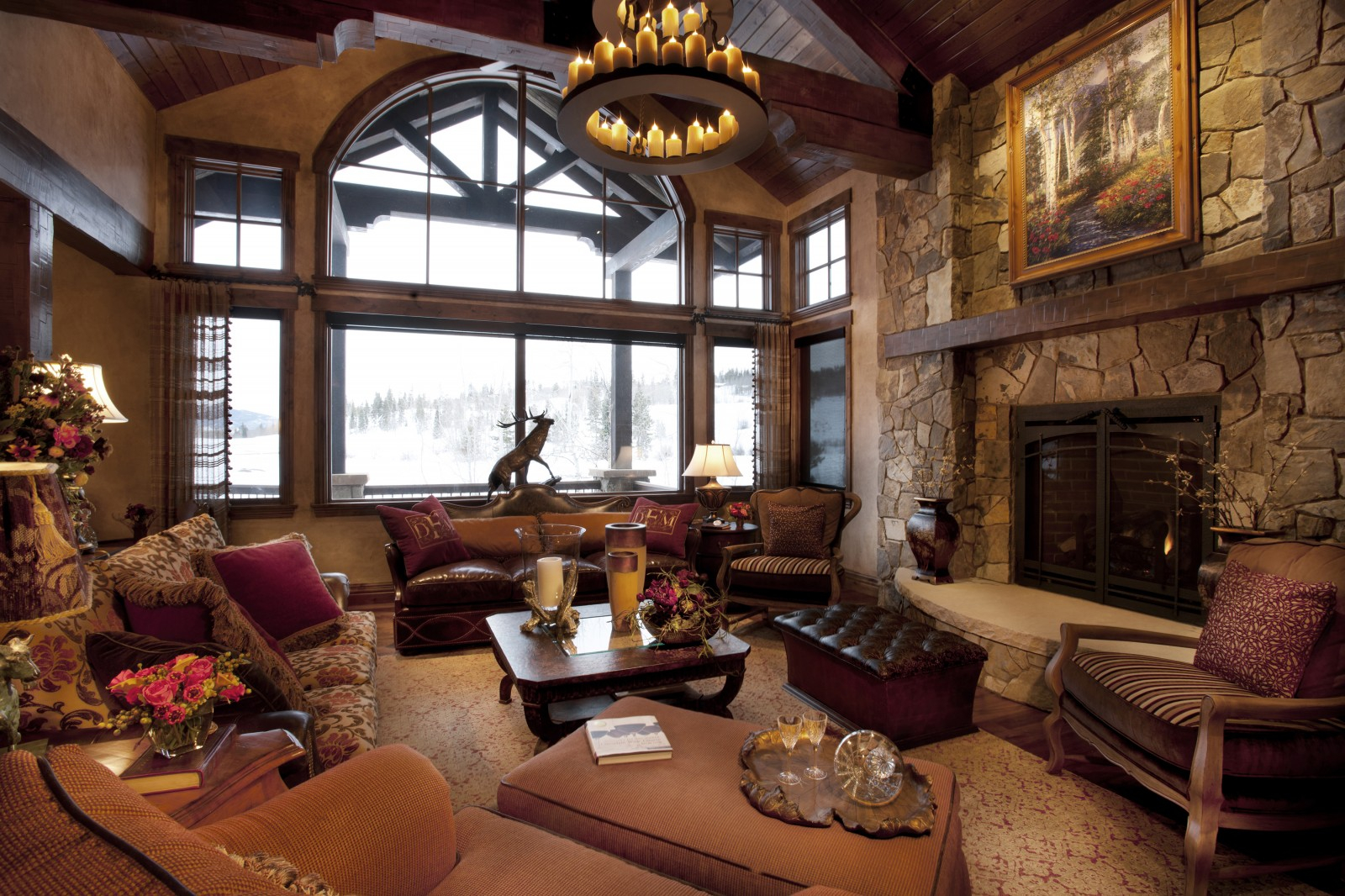 adorable rustic spanish style living room design with