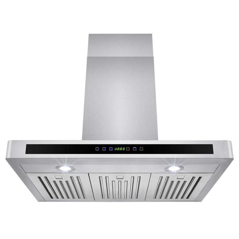 Akdy 30 In Convertible Kitchen Wall Mount Range Hood In Stainless