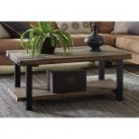 Alaterre Furniture Pomona Rustic Natural Coffee Table Amba1120 The