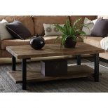 Alaterre Furniture Pomona Rustic Natural Coffee Table Amba1220 The