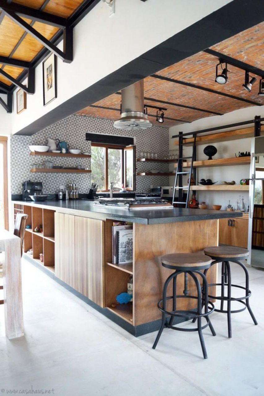 Amazing 20 Industrial Rustic Kitchen Cabinets Design Ideas To