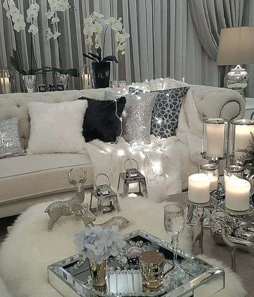 Amazing Grey And White Living Room Of White Grey And Silver Living