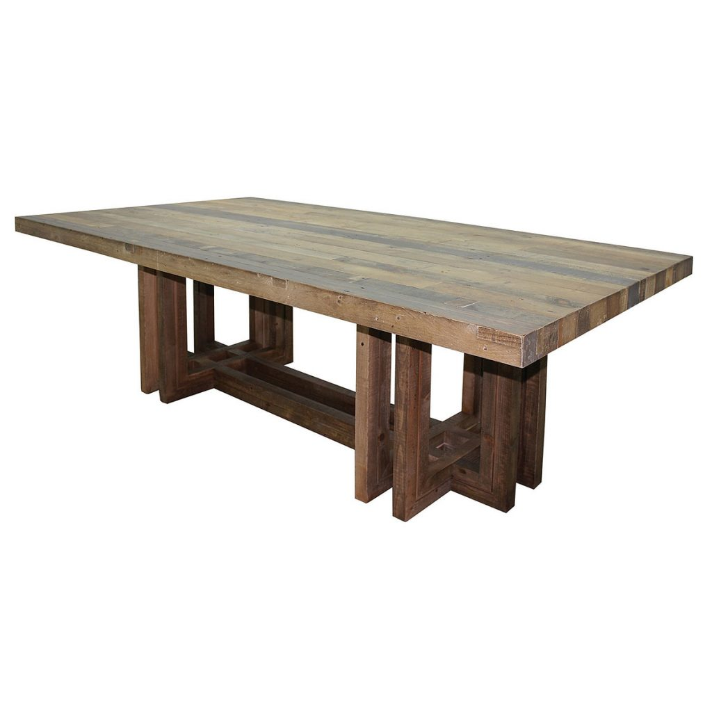 Angora Dining Table 95quot Modern Reclaimed Wood Tables Modern Table