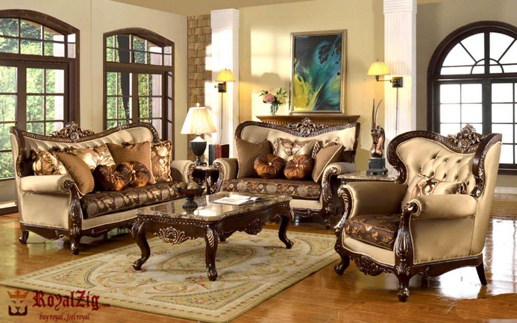 Antique Sofa Set Handcrafted French Style