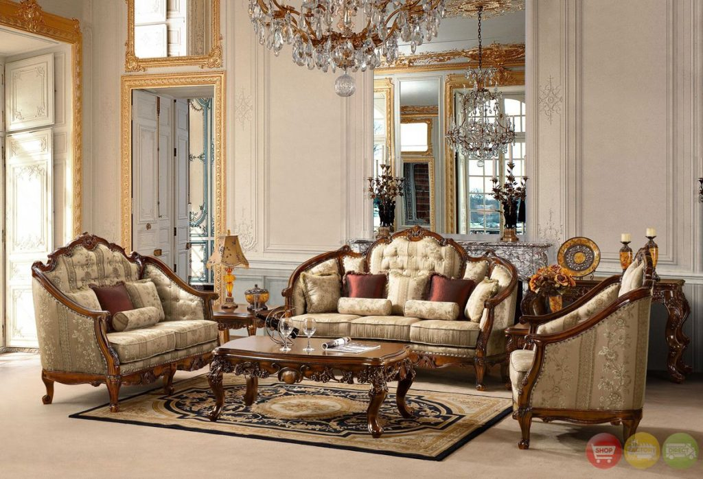 Antique Style Luxury Formal Living Room Furniture Set Hd 953 Kd