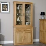 Arden Solid Oak Dining Room Furniture Small China Cutlery Dresser