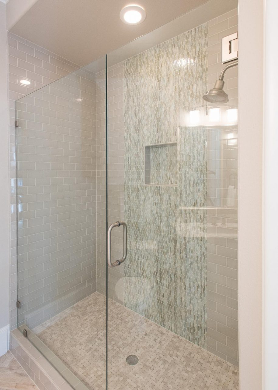 Attractive Tile Shower With Glass Door Bp87 Roccommunity