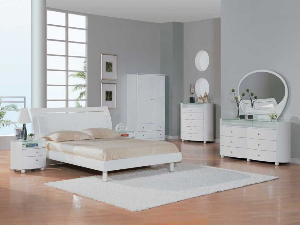 Awesome White Bedroom Furniture Ideas For Interior Remodel Plan With