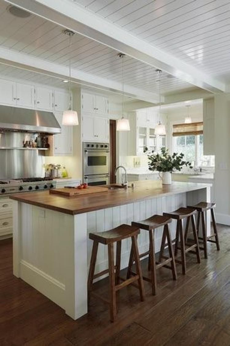 Awesome Wood Top Kitchen Island Ideas Kitchen Island In 2019
