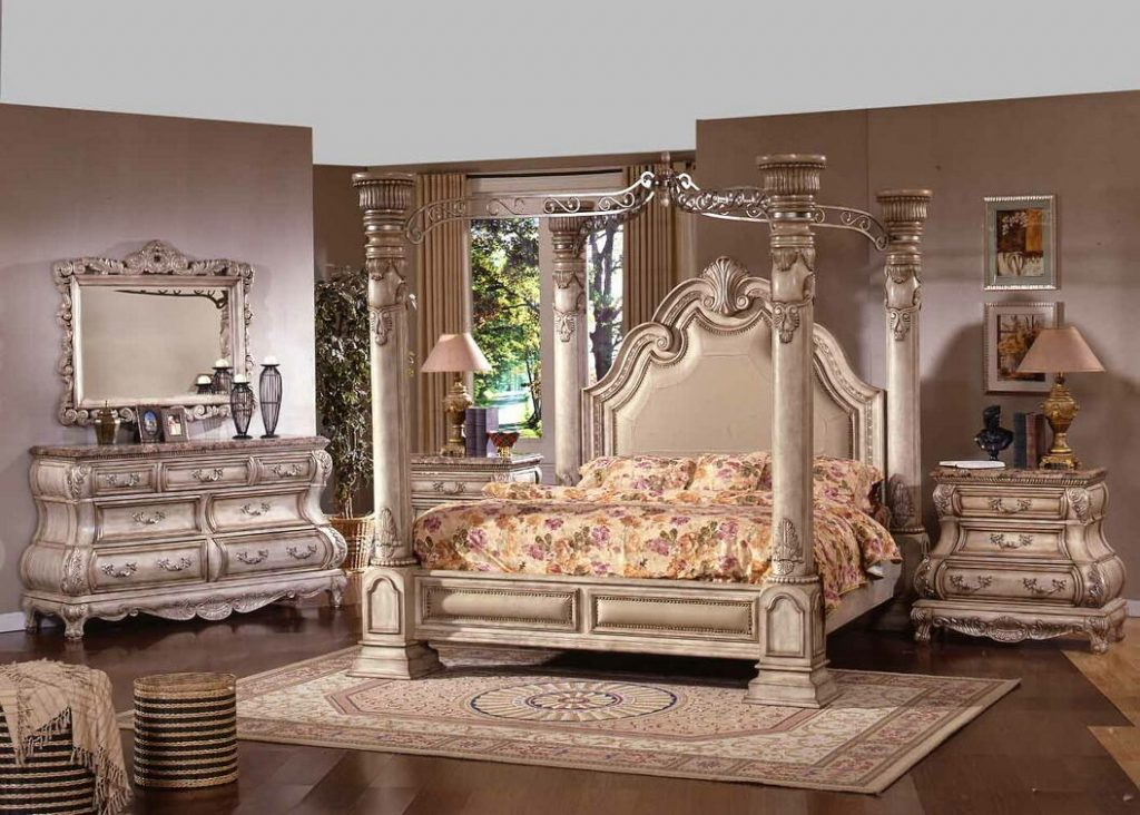 B9097 5 Pc Princess Anne Ii Collection Antique White Wood Finish