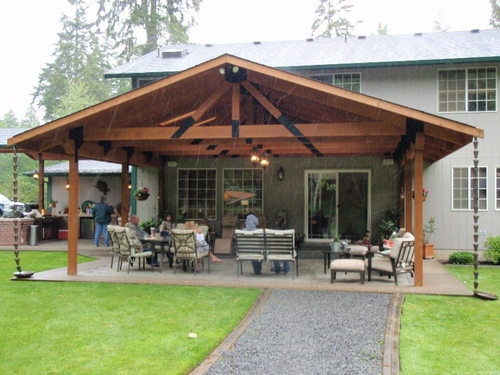 Backyard Covered Patio Pictures With Lounge Space And Outdoor