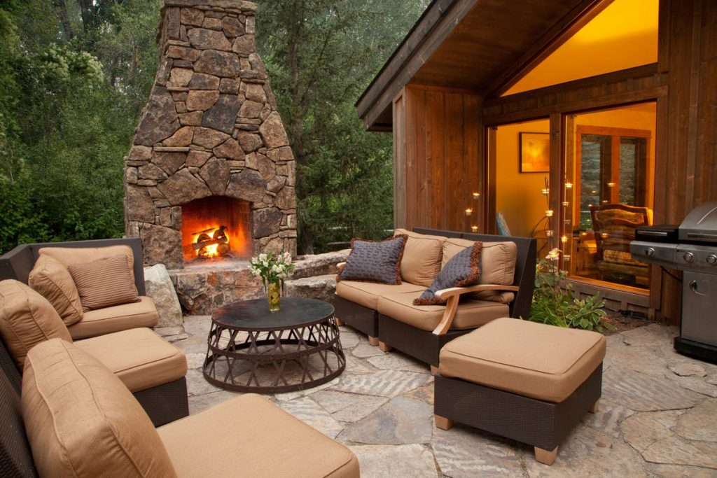 Backyard Fireplace Stone Design Strong Backyard Backyard
