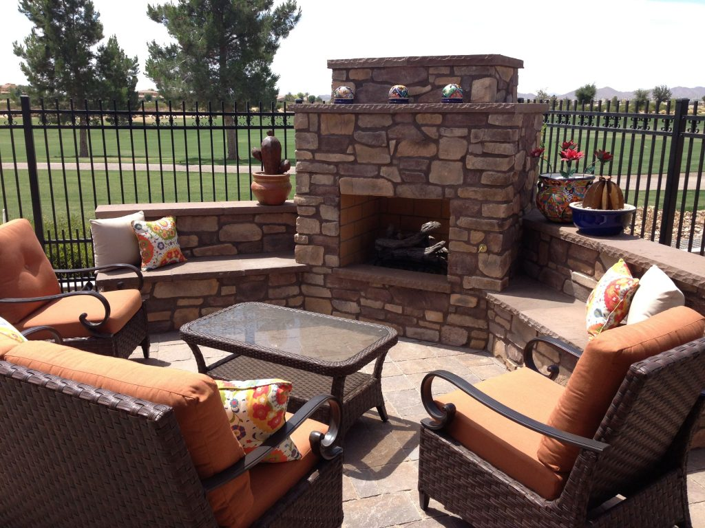 Backyard Landscape Ideas With Fire Place Cozy Up Outdoor
