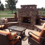 Back Yard Outdoor Fireplace Designs