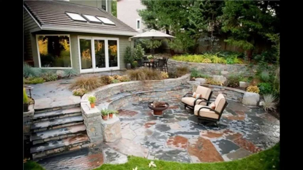 Backyard Stone Patio Ideas For Flagstone Best Option Inside Remodel