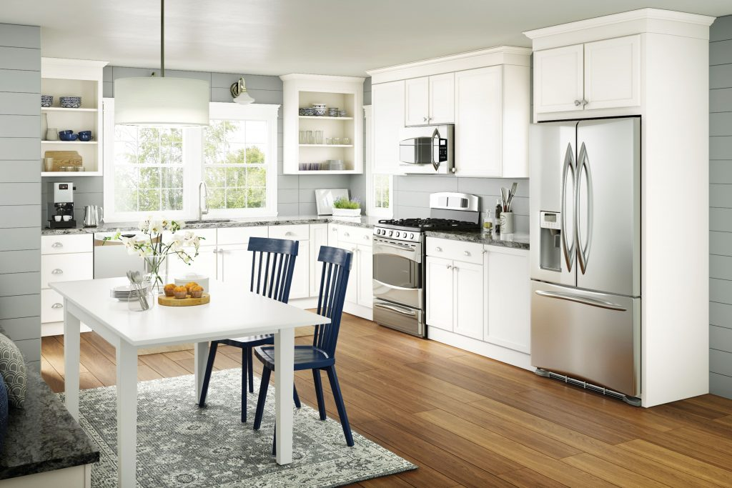 Basics Wesley Square White Out Kitchen Cabinets Kitchen
