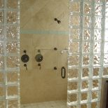 Bath Remodel With Glass Block Shower Sims Exteriors And Remodeling