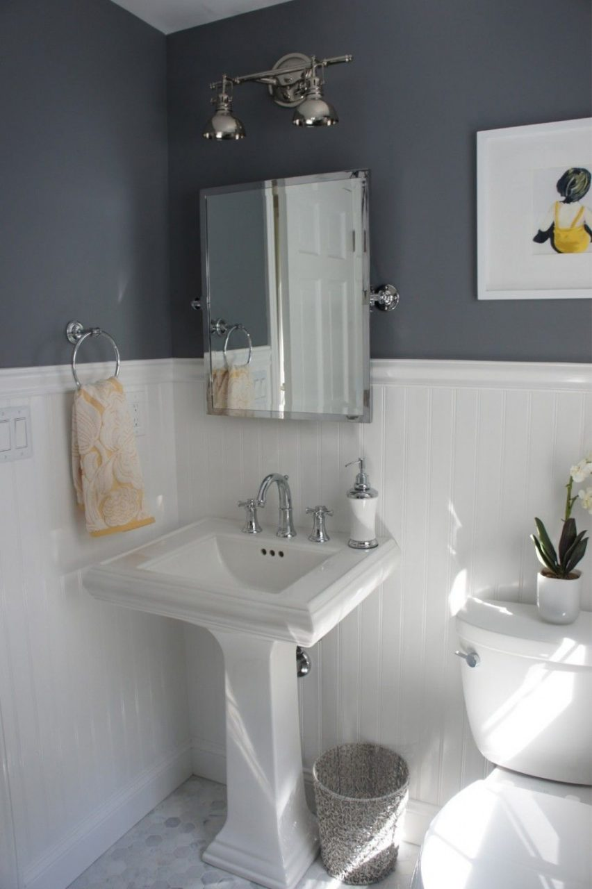 Bathroom Cool Small Bathroom Ideas With White Beadboard