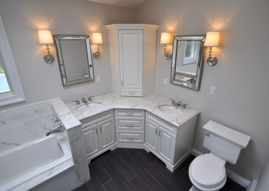 Bathrooms Master Bath Update Bathroom Cabinets Corner Vanity