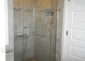 Tile Shower with Glass Door