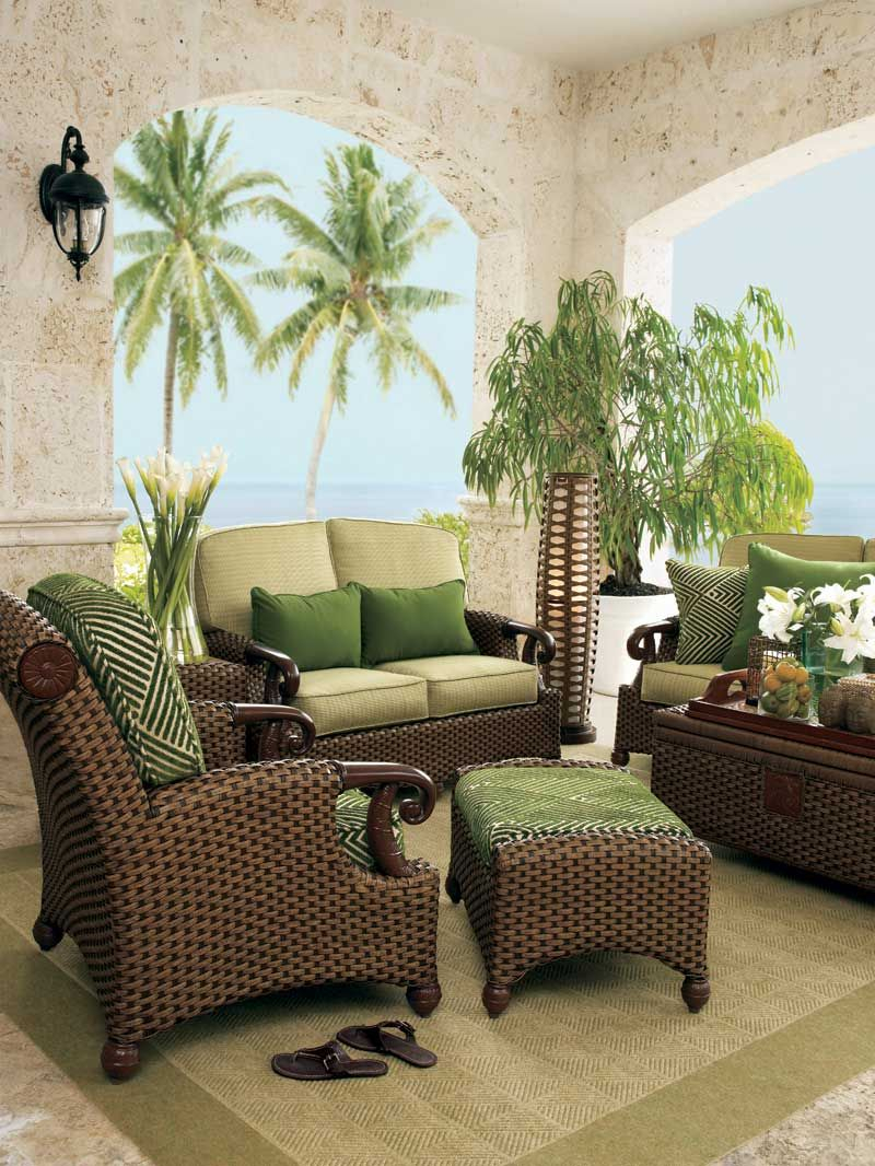 Beachy Room Wicker Luxury Beach House Living Room With Modern