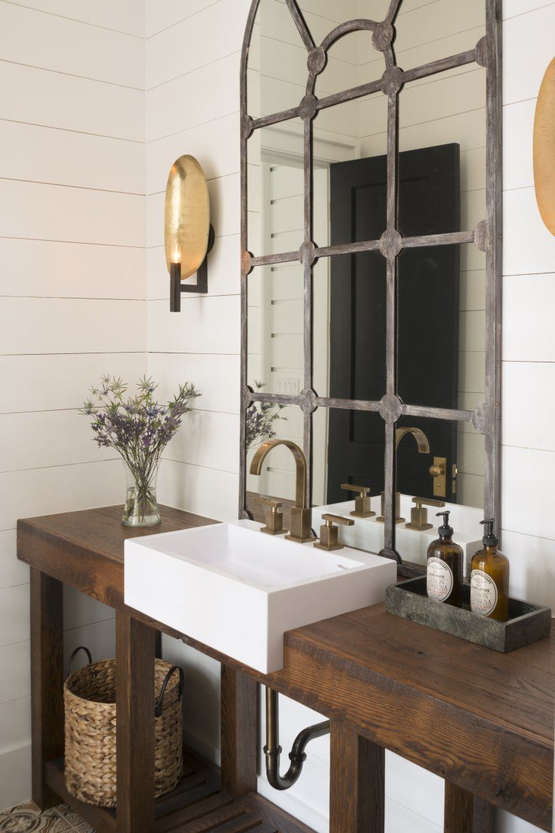 Beautiful Rustic Industrial Bathroom Design That Mirror Is