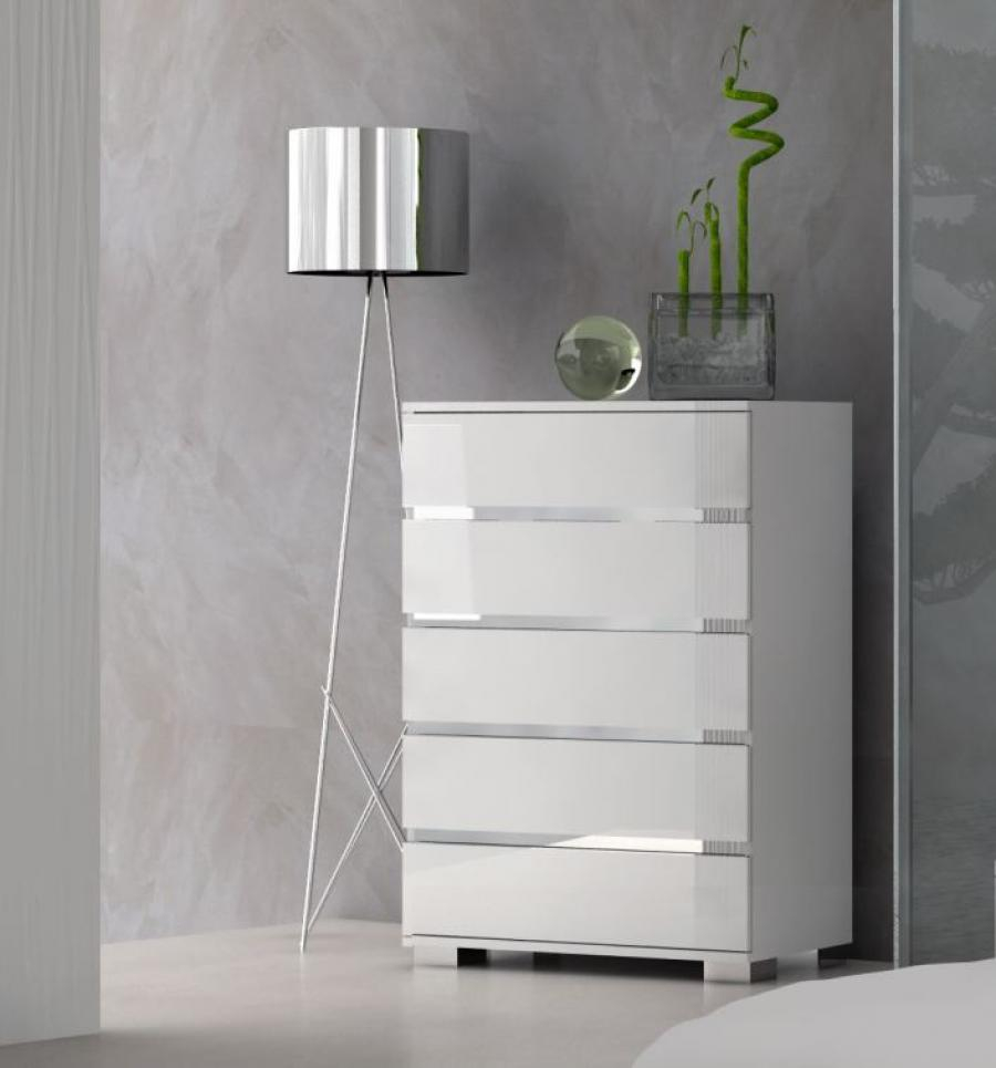 Bedroom Contemporary Chests Of Drawers Design With White Stained