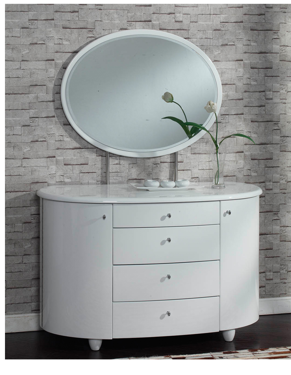 Bedroom Contemporary White High Gloss Bedroom Furniture Feature
