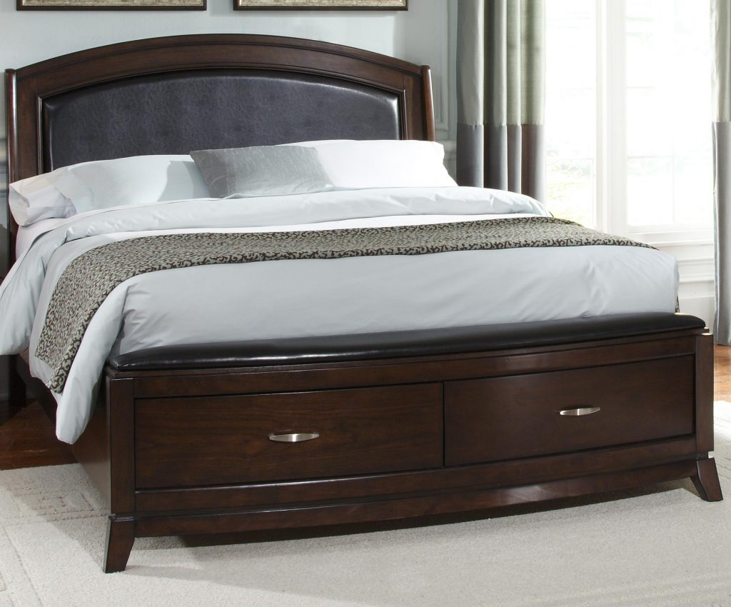 Bedroom Sets With Leather Headboard At Bedroom Furniture Discounts