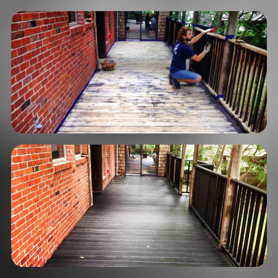 Before And After Deck Pictures Carlson Projects Inc Lincoln Ne