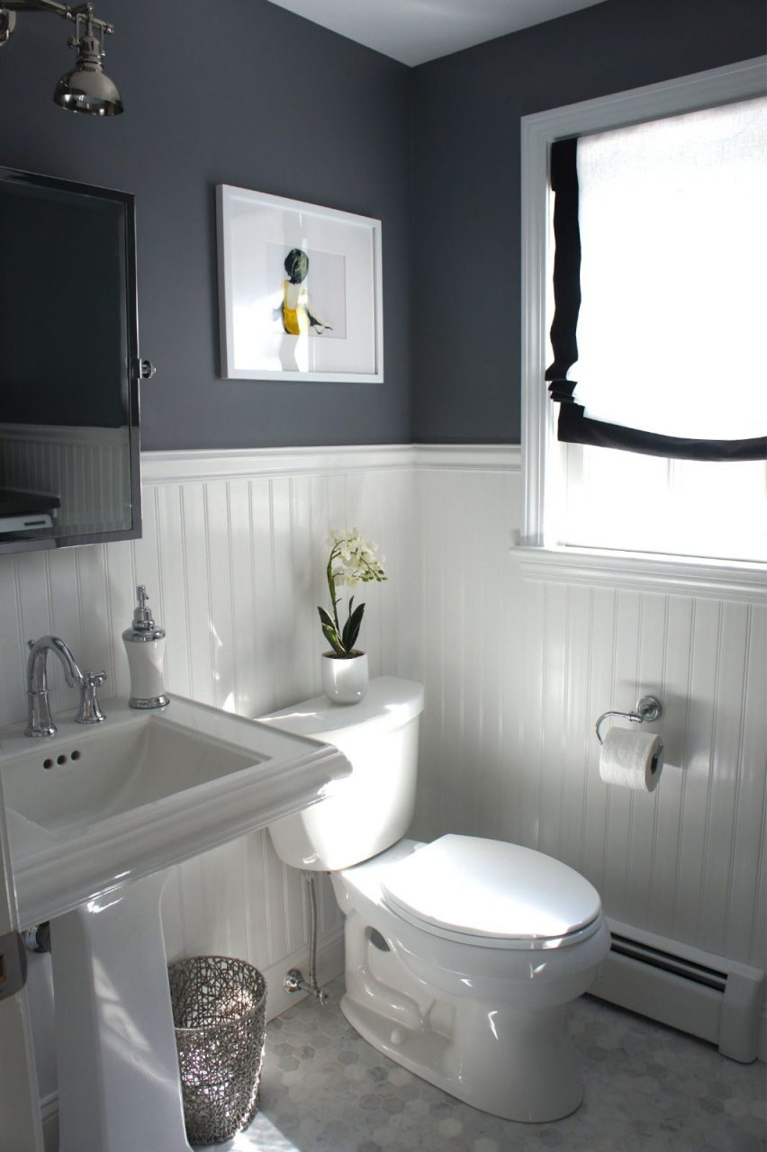Before And After Updating A Half Bath And Laundry Home Design