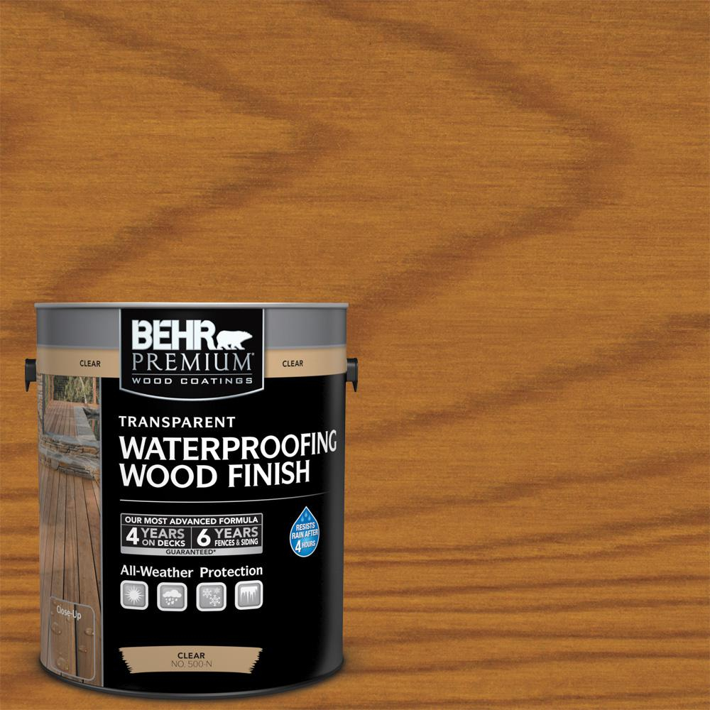 Behr Premium 1 Gal T 500 Natural Clear Transparent Waterproofing