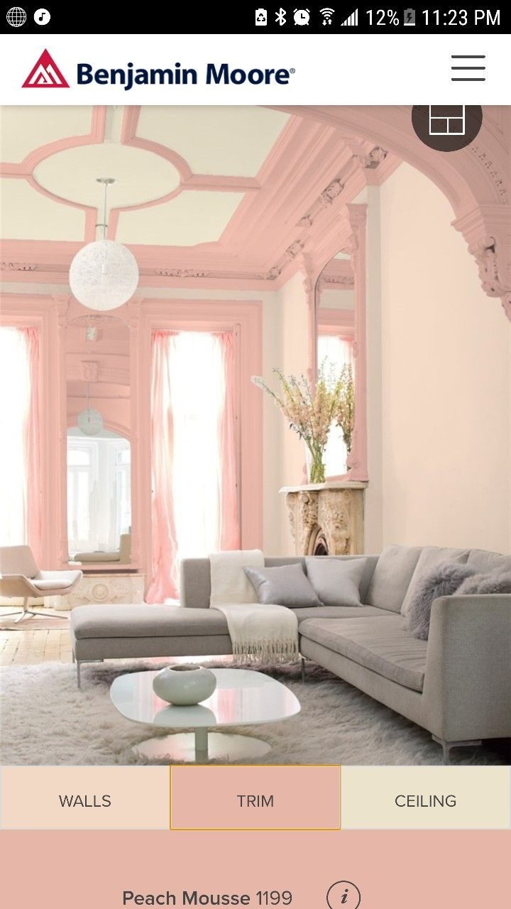 Benjamin Moore Queen Anne Pink With Peach Mousse Lindseys Crafts