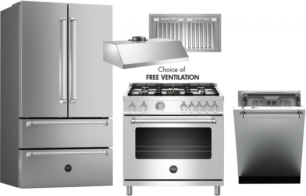 Bertazzoni Bermas36v1 3 Piece Kitchen Appliances Package With French