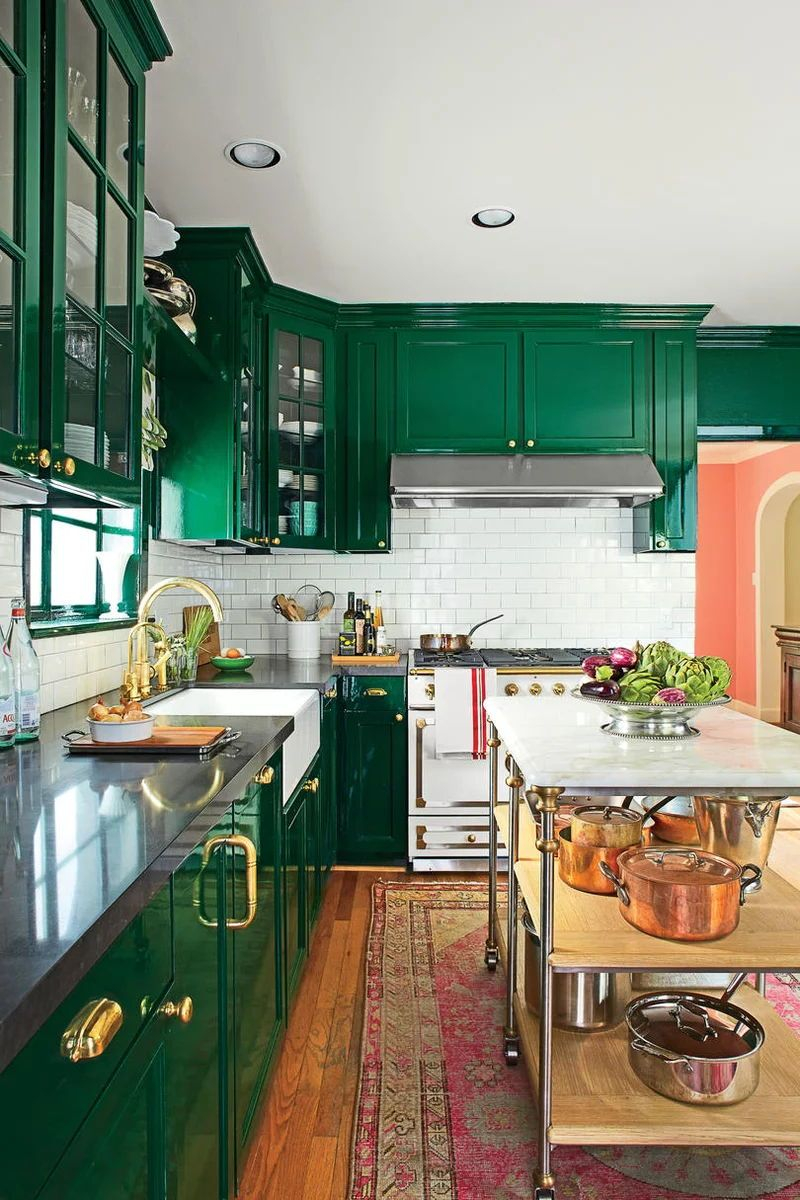 Best Makeovers Of All Time Kitchens Pinterest Green Kitchen
