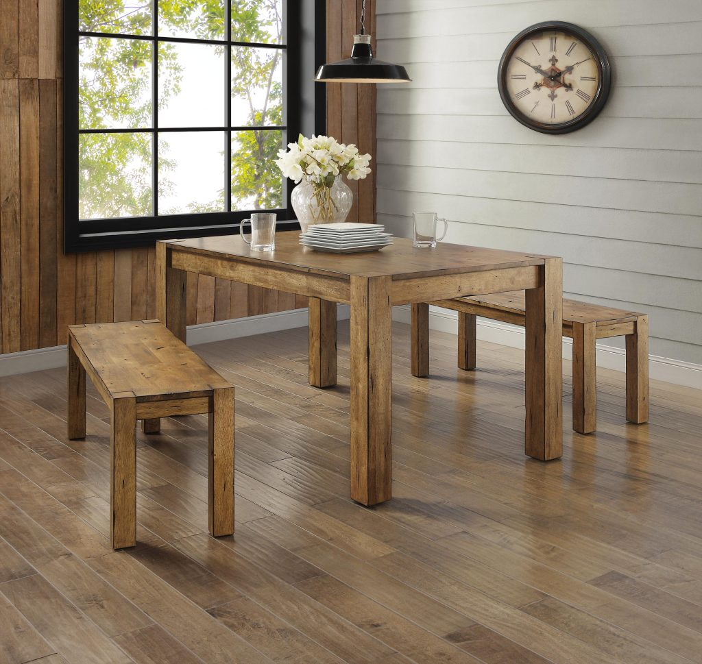 Better Homes And Gardens Bryant 3 Piece Dining Set Rustic Wood