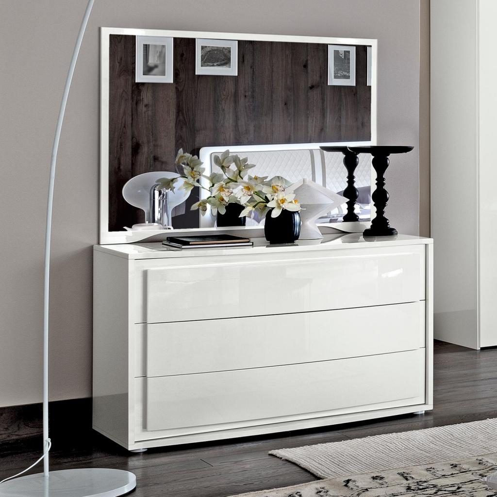 Bianca White High Gloss 3 Drawer Chest Of Drawers F D Interiors Ltd