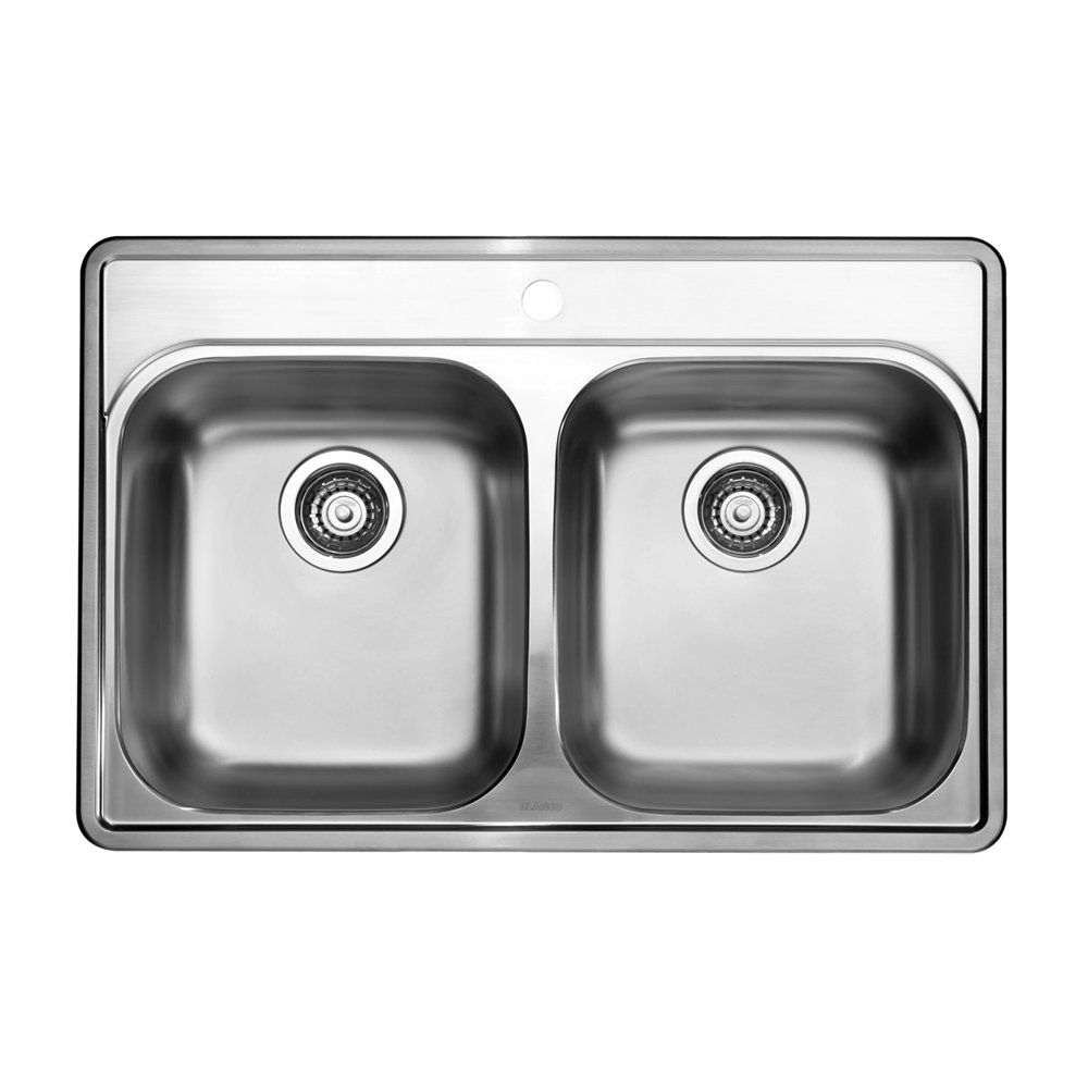 Blanco Essential Double Bowl Drop In Kitchen Sink Lowes Canada